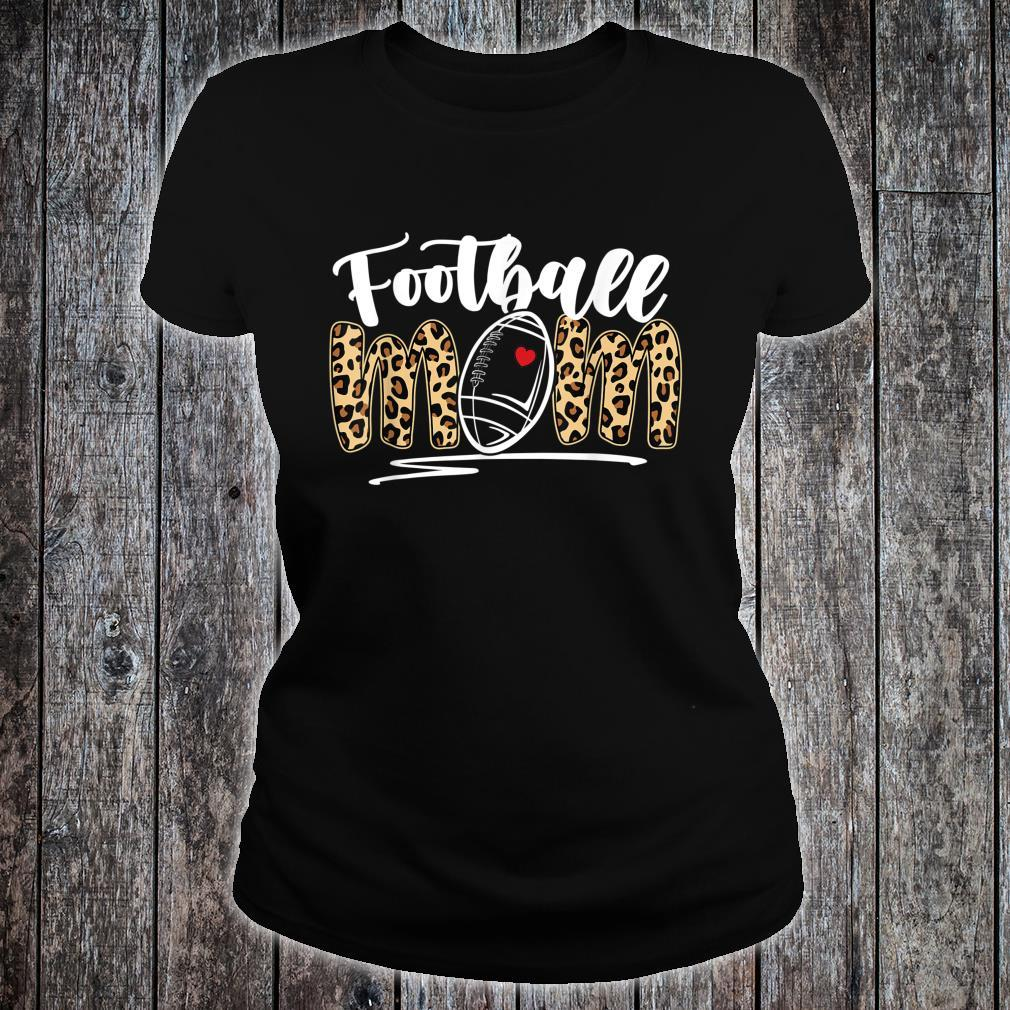Football Mom Leopard Football Mother's Day Football Player Shirt ladies tee