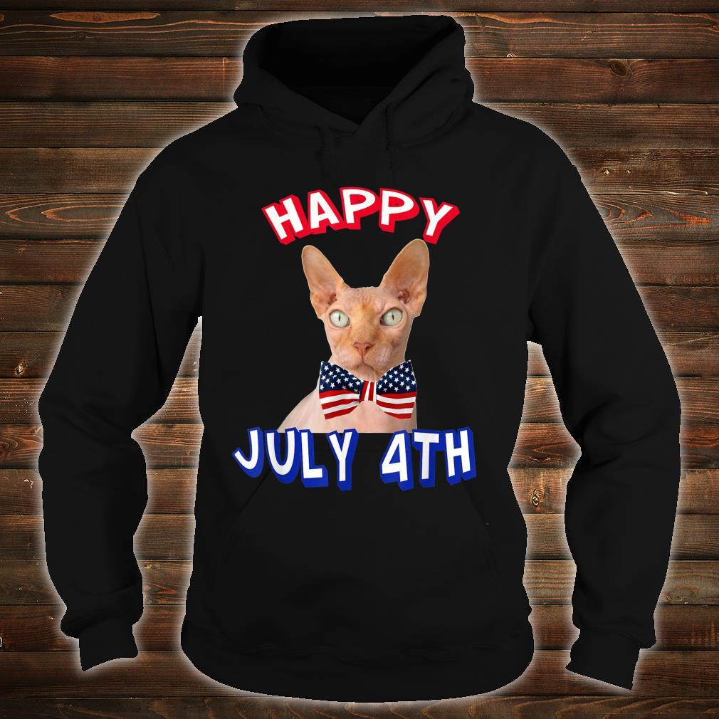 Happy July 4th. Independence Day Hairless Cats Bowtie Shirt hoodie