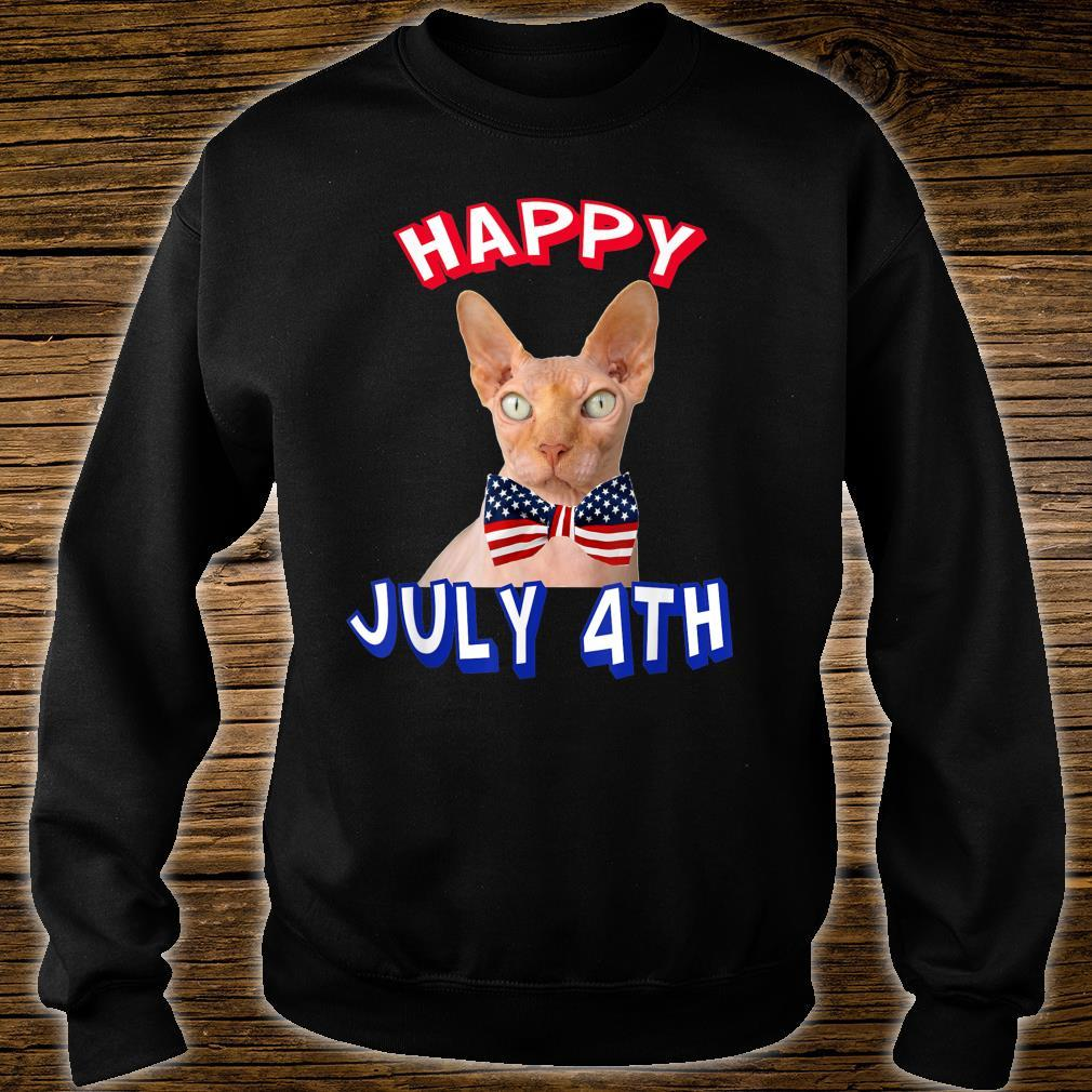 Happy July 4th. Independence Day Hairless Cats Bowtie Shirt sweater