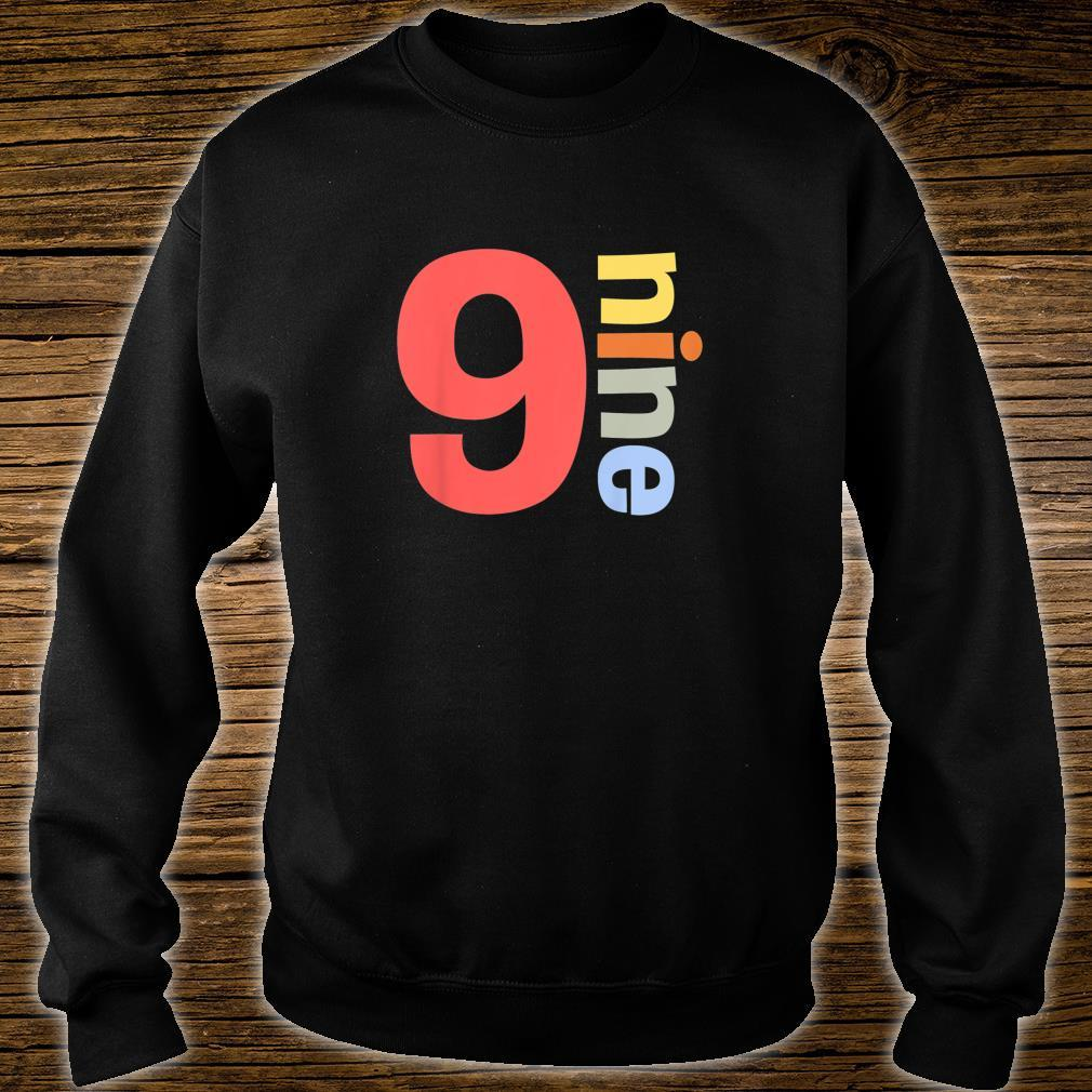 Kids Happy 9th Birthday Nine 9 Colorful Years Old Shirt Simple Shirt sweater