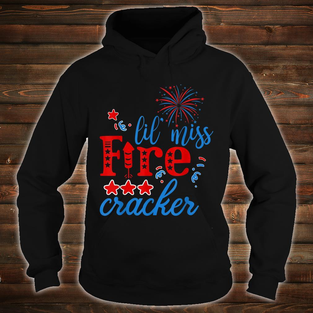 Little Miss Firecracker Party freedom Independence Day Shirt hoodie