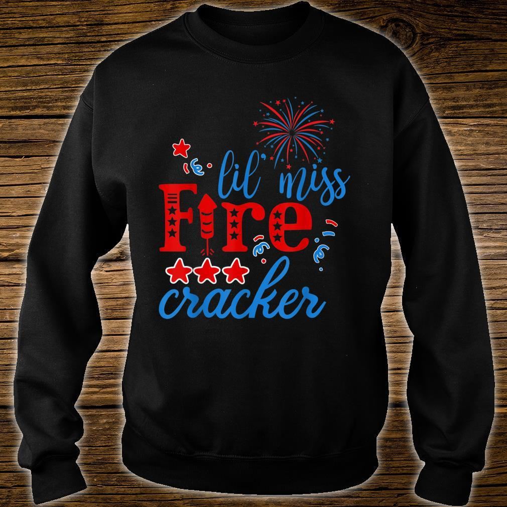 Little Miss Firecracker Party freedom Independence Day Shirt sweater