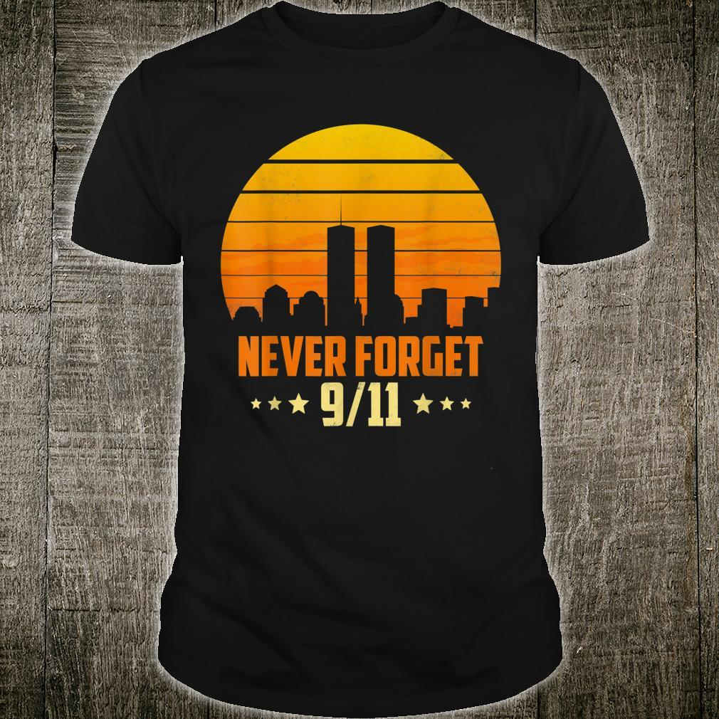 Never Forget 911 20th Anniversary Patriot Day American Retro Shirt