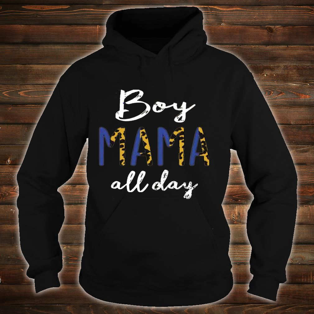 Vintage Boy Mama All Day Leopard Mom Of A Boy Mother's Day Shirt hoodie